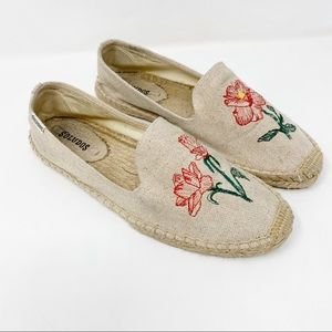 Soludos Floral Embroidered Espadrille Slip On Shoe